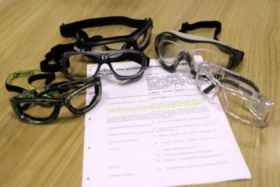 Município recebe doação de óculos de proteção para área da Saúde