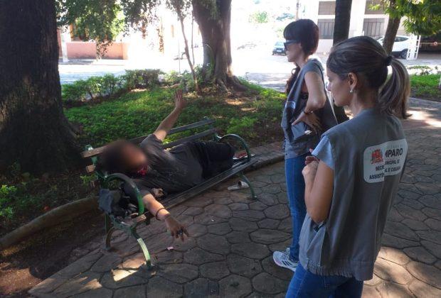 Desenvolvimento Social e Cidadania de Amparo realizou ações com pessoas em situação de rua