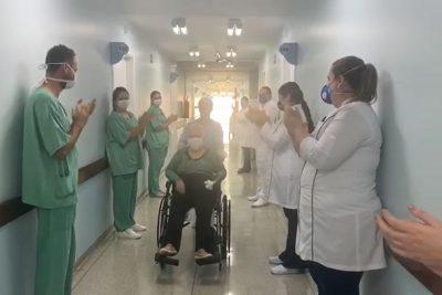 IDOSA DIAGNOSTICADA COM CORONAVÍRUS RECEBE ALTA DO HOSPITAL SÃO FRANCISCO DE MOGI GUAÇU APÓS 17 DIAS INTERNADA