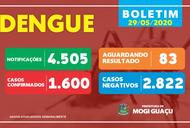 Mogi Guaçu registra 1.600 casos de dengue