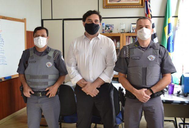 Vice-prefeito Fábio Polidoro recepciona o novo Comandante da 2ª Companhia do 26º Batalhão de Polícia Militar – Pedreira