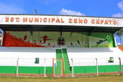 Estádio Municipal passa por melhorias durante período de atividades suspensas