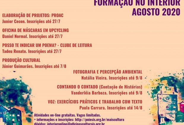 OFICINAS CULTURAIS – PROGRAMA DE FORMAÇÃO PARA O INTERIOR DE SÃO PAULO