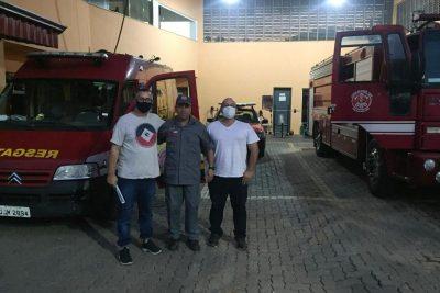 Chefe da Defesa Civil de Itapira visita Posto de Bombeiros de Serra Negra