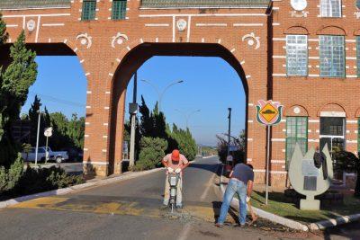 Obras na região do Portal Turístico provocam alteração no trânsito dês de dia 10 de julho em Holambra