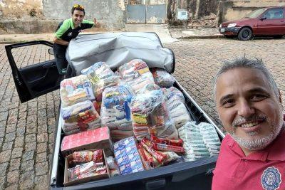Unifeob e Lucas Bassi entregam 800 kg de doações para duas entidades assistenciais