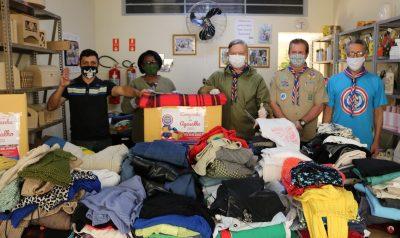 Fundo Social recebe doação do Grupo Escoteiro de Itapira