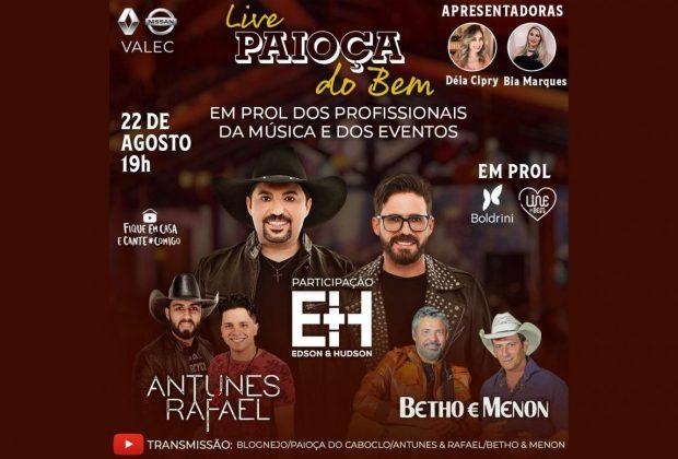Artistas realizam live para arrecadar doações para o Centro Infantil Boldrini e aos profissionais do entretenimento da região de Campinas/SP