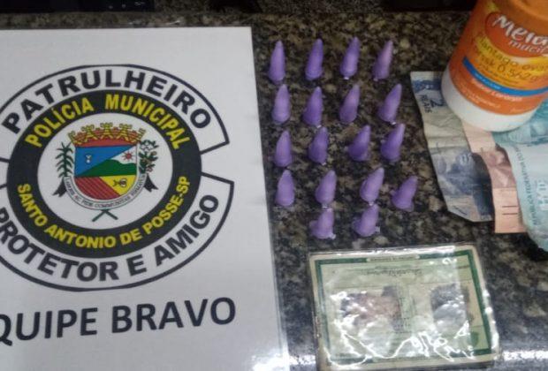 Homem é preso pela Policia Municipal de Posse com drogas na Vila Esperança