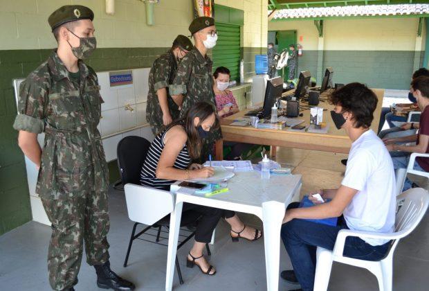Exército realiza Seleção Geral dos Alistados para o Tiro de Guerra de Pedreira