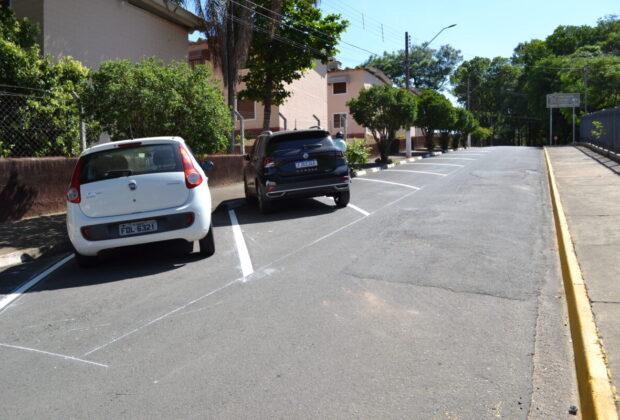 Prefeitura de Pedreira implanta estacionamento 45 graus na Rua Odavilson Utembergue