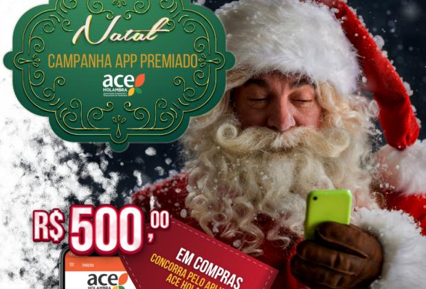 ACE Holambra promove Campanha App Premiado Natal