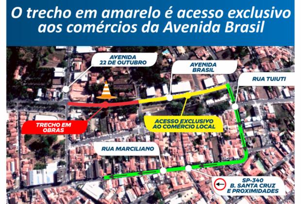 Atenção, motoristas! Nova interdição na Avenida Brasil