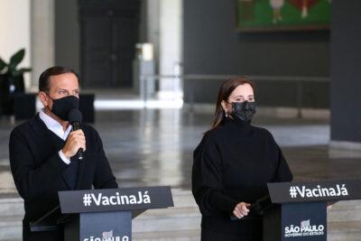Doria anuncia antecipação de 15 dias para vacinação geral contra o coronavírus