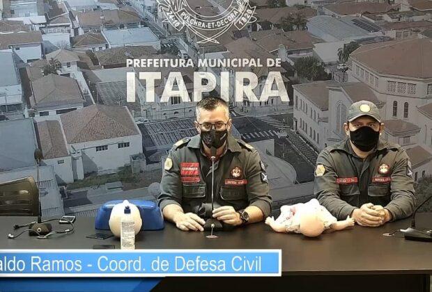 Coordenador da Defesa Civil ministra aula online de primeiros socorros para servidores dos CEIs