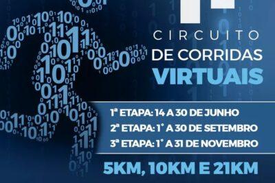 CIRCUITO DE CORRIDAS VIRTUAIS COMEÇA NESTA SEGUNDA-FEIRA, 14