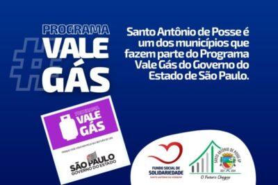 Santo Antônio de Posse é um dos municípios que fazem parte do Programa Vale Gás