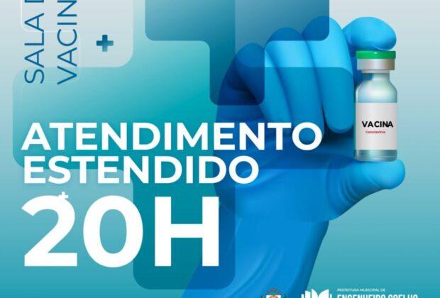 SALA DE VACINAS FUNCIONA EM HORÁRIO ESTENDIDO COM FOCO NA SEGUNDA DOSE CONTRA COVID-19