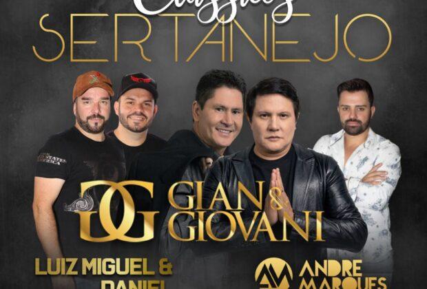 Gian & Giovani, Luiz Miguel & Daniel se apresentam em Paulínia/SP